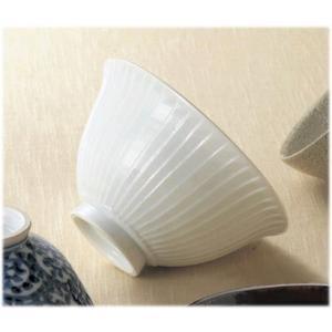 〔飯碗 有田焼〕 一真窯 白磁手彫り 飯碗|itibei