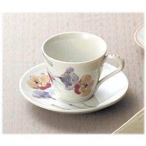 〔和皿・洋皿 九谷焼〕 山近泰 ポピー コーヒー碗皿