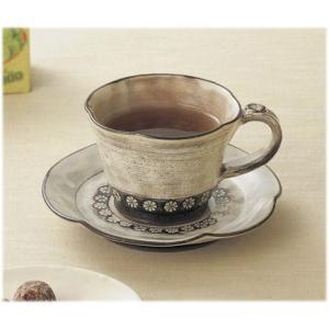〔和皿・洋皿 美濃焼〕 秀窯 黒三島 コーヒー碗皿