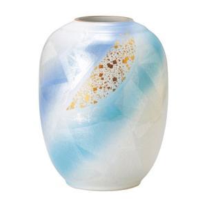 〔九谷焼 花器・花瓶〕 宗秀窯 銀彩金ちらし 花瓶|itibei