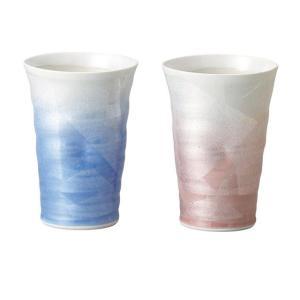 〔フリーカップ 九谷焼〕 宗秀窯 釉裏銀彩 ペアカップ|itibei