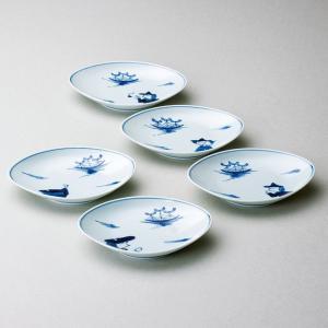 〔和皿・洋皿 有田焼〕 青花 帆船と異人絵変り 舟形銘々皿揃|itibei
