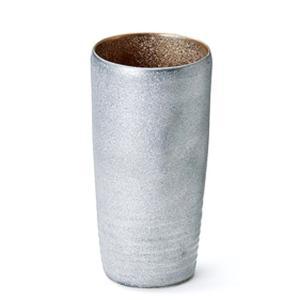 〔有田焼 酒器〕 陶悦窯 黒ゆずプラチナ塗 ビアカップ(内金)|itibei