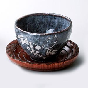 〔湯呑 美濃焼〕 玉山窯 鼠志野 いっぷく碗(茶托付) itibei