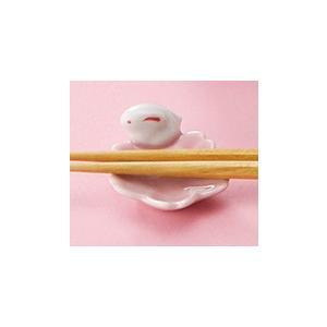 〔箸置き・箸 有田焼〕 花兎 箸置5客揃|itibei