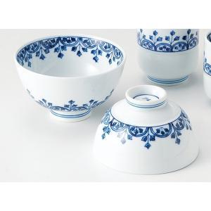 〔飯碗 有田焼〕 定山窯 瓔珞紋 対飯碗|itibei