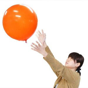 〔バルーン〕 40cm 風船バレー オレンジ (5枚入り)〔ふうせんバレー〕|itibei