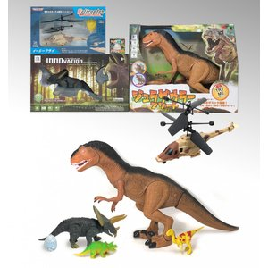 ラジコン恐竜 & ヘリコプター セット / クリスマスプレゼント / 福袋 / 男の子おもちゃ|itibei