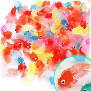 〔縁日すくいネタ〕やわらか ミニ金魚(100個入)|itibei