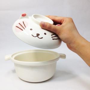 〔土鍋〕 ねこちゃんのひとり鍋 / 萬古焼|itibei