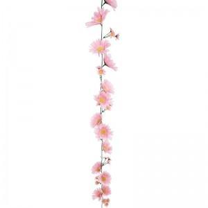 【装飾品 ひな祭り・お花見】ガーベラガーランドピンク 12個|itibei