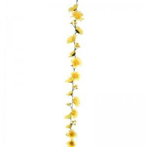 【装飾品 ひな祭り・お花見】ガーベラガーランドイエロー 12個|itibei