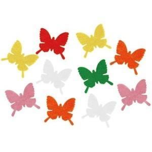 【装飾品 ひな祭り・お花見】フェルト蝶々 50枚セット|itibei