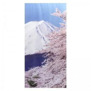 【装飾品 ひな祭り・お花見】タペストリー富士桜防炎|itibei