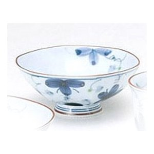 〔飯碗 波佐見〕 花の舞 水切り茶付(大) 5個組|itibei