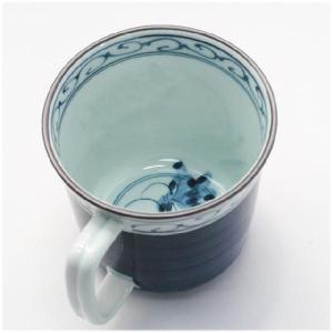 〔マグカップ 波佐見〕 呉須巻かぶ マグカップ(青) itibei 03