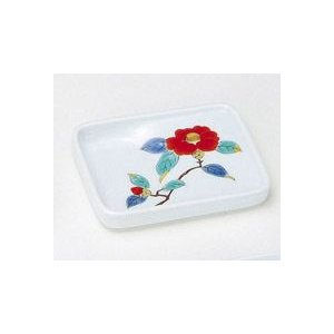 〔和皿・洋皿 有田〕 長角型味わい皿 赤椿 5個組|itibei