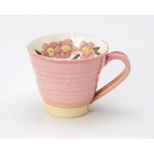 〔マグカップ 波佐見焼〕 釉花桜 マグカップ|itibei