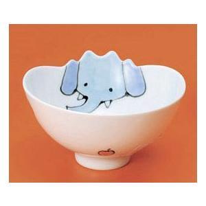〔子供用食器 有田焼〕 ぞう ウェーブ碗 3個組|itibei