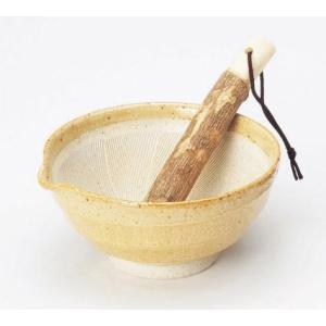〔小付・鉢 美濃焼〕 アメ釉 すり鉢(すり棒付)|itibei