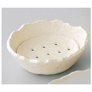 〔小付・鉢 万古焼〕 ホワイト 水切り鉢 3個組 itibei