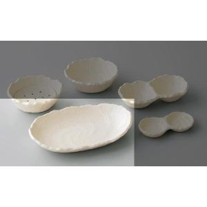 〔小付・鉢 万古焼〕 ホワイト 楕円鉢 3個組|itibei|02