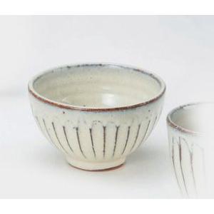 〔飯碗 信楽焼〕 白釉彫 飯碗(大) 5個組|itibei