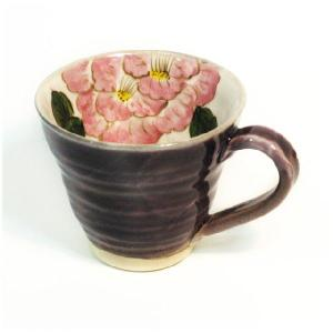 〔マグカップ 波佐見焼〕 釉花牡丹 マグカップ|itibei