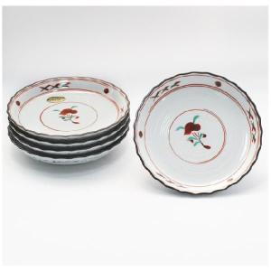 〔和皿・洋皿 有田焼〕 古赤絵 新型5号皿 5個組|itibei
