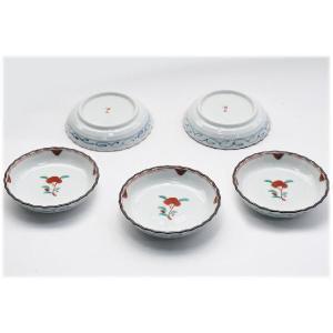〔和皿・洋皿 有田焼〕 古赤絵 新型3号皿 5個組|itibei