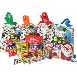 【プレゼント好適品,福袋】 クリスマス柄バック入りお菓子セット 1セット|itibei