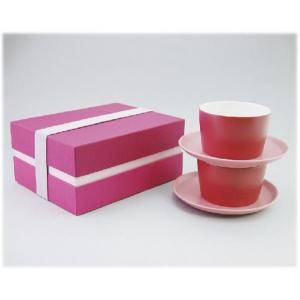 〔美濃焼 コーヒー碗皿〕 グラデーション ペアカップ&ソーサー(PI)|itibei
