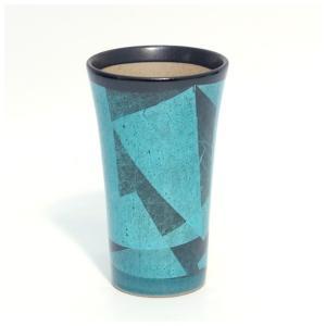〔九谷焼 フリーカップ〕 宗秀窯 釉裏銀彩泡立ち フリーカップ(エメラルド)|itibei
