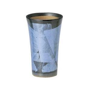 〔九谷焼 フリーカップ〕 宗秀窯 釉裏銀彩泡立ち フリーカップ(ブルー)|itibei