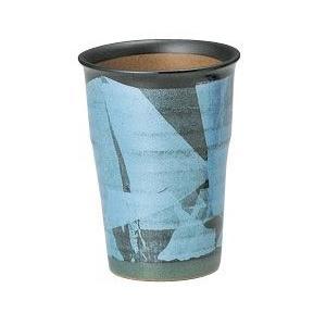 〔九谷焼 フリーカップ〕 宗秀窯 釉裏銀彩泡立ち ビアカップ(エメラルド)|itibei