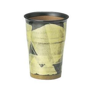 〔九谷焼 フリーカップ〕 宗秀窯 釉裏銀彩泡立ち ビアカップ(イエロー)|itibei