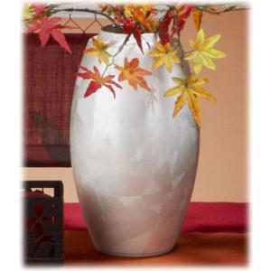 〔九谷焼 花器・花瓶〕 釉裏銀彩 白銀花瓶(なつめ)|itibei