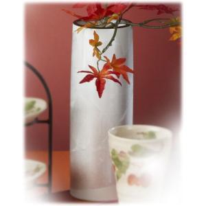 〔九谷焼 花器・花瓶〕 釉裏銀彩 白銀花瓶(寸胴)|itibei