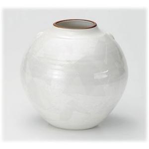 〔九谷焼 花器・花瓶〕 釉裏銀彩 白銀花瓶(丸)|itibei