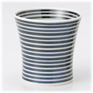 〔有田焼 フリーカップ〕 藍駒(スリム) ミニワビカップ 3個組|itibei
