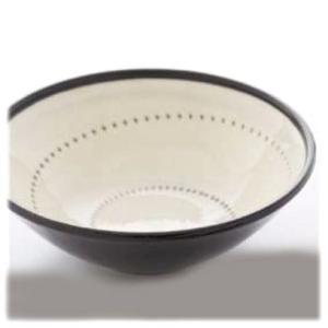 〔波佐見焼 丼〕 白刷毛鉋 17.5cmボール 5個組|itibei