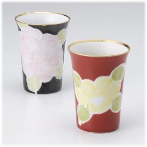 〔有田焼 フリーカップ〕 山下陶苑 万葉絵変り ペアフリーカップ|itibei