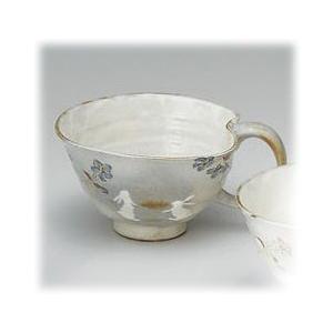 〔有田焼 マグカップ〕 花とび兎 スープ碗(青)|itibei