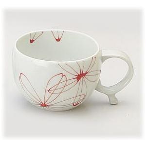 〔波佐見焼 マグカップ〕 パキラ マグカップ(赤)  3個組 itibei