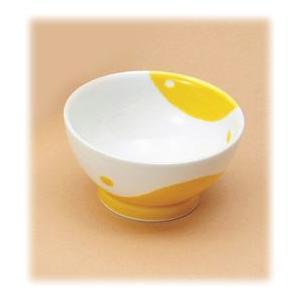 〔有田焼 子供用食器〕 朝ごはんプロジェクト 濃黄釉丸紋 ボール(S) 3個組|itibei