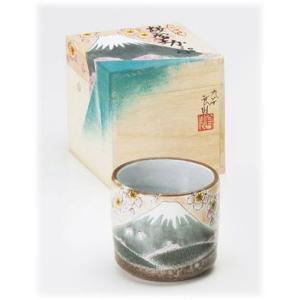 〔九谷焼 フリーカップ〕 九谷和窯 色いろカップ 春の富士|itibei