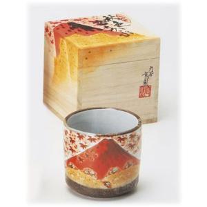 〔九谷焼 フリーカップ〕 九谷和窯 色いろカップ 秋の富士|itibei