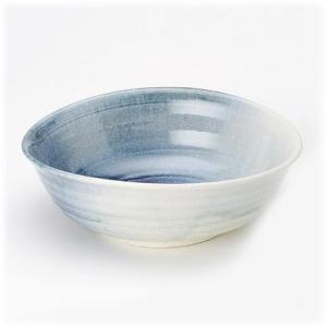 〔信楽焼 丼〕 藍吹き たわみ盛鉢|itibei