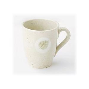 〔萬古焼 マグカップ〕 軽かった葉っぱ(白) マグカップ(中) 3個組|itibei