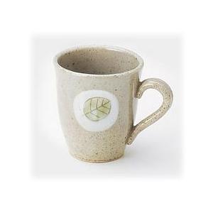 〔萬古焼 マグカップ〕 軽かった葉っぱ(茶) マグカップ(中) 3個組|itibei